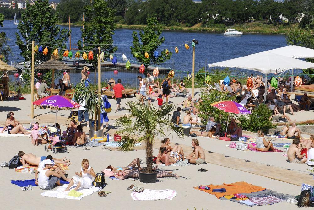 Der Statt Strand am Stadtrand (von Koblenz) Foto & Bild