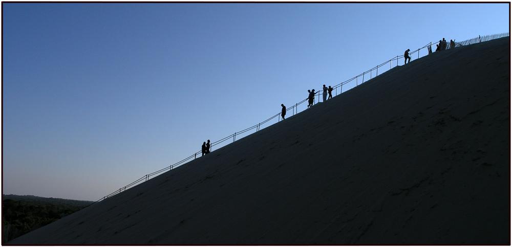 Der steile Weg hinauf
