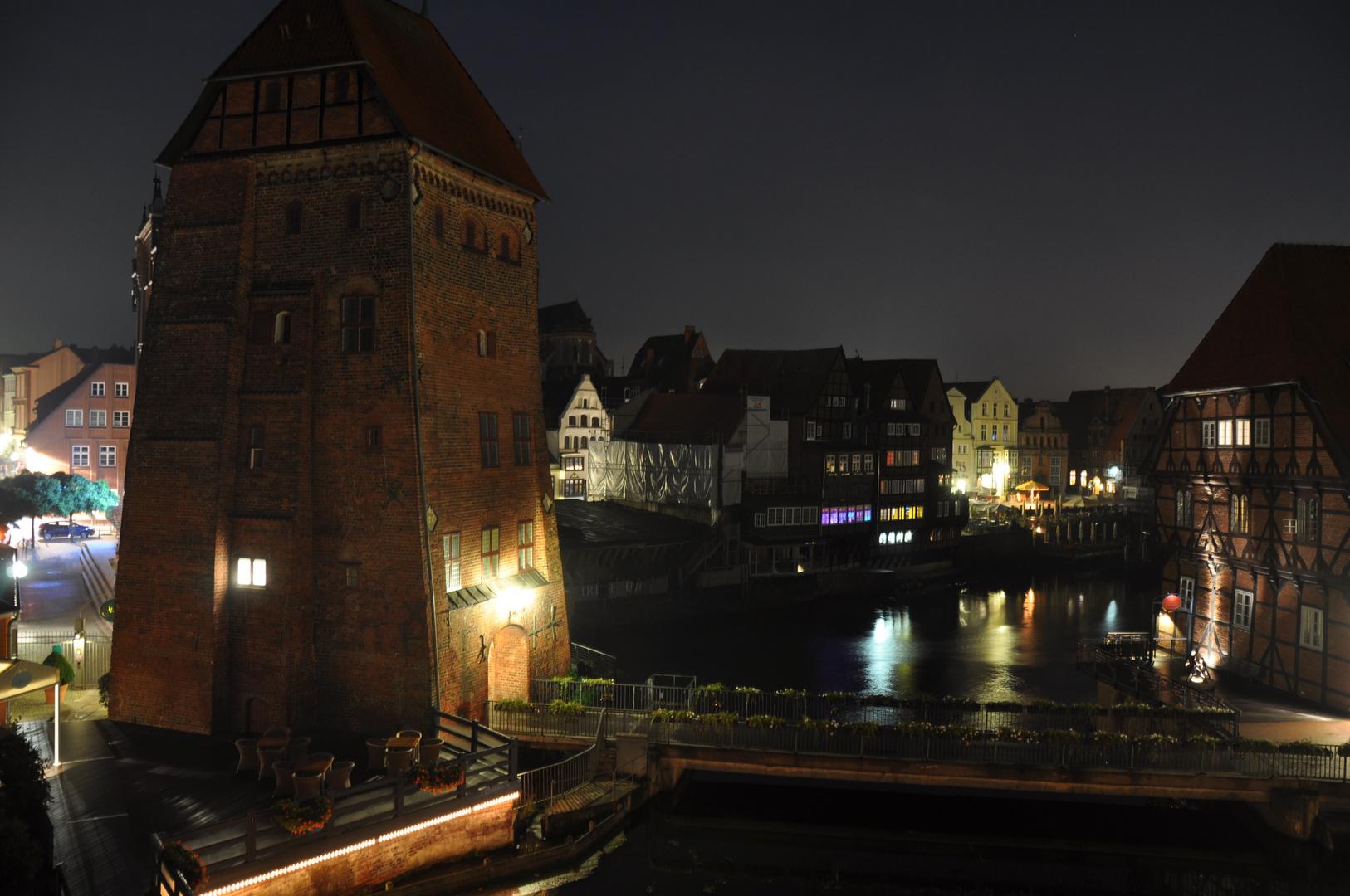 Der Stint in Lüneburg bei Nacht