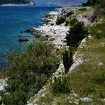 Der Strand von Goli Otok - 50 Meter links vom Schrecken