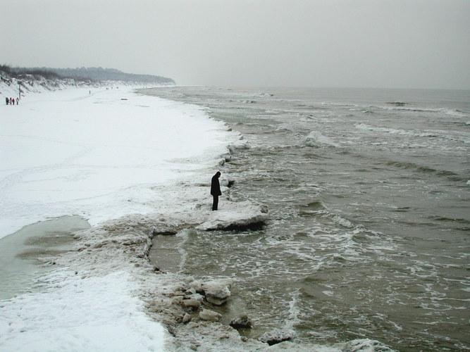 Der Strand von Palanga im März 2005