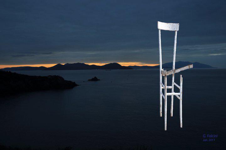 Der Stuhl und der Sonnenuntergang