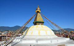 Der Stupa von Bodnath in Kathmandu