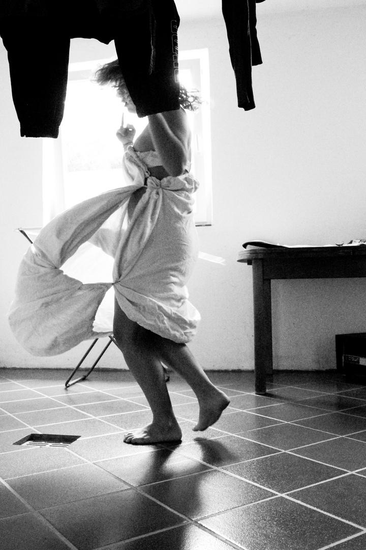 der Tanz mit der Wäsche