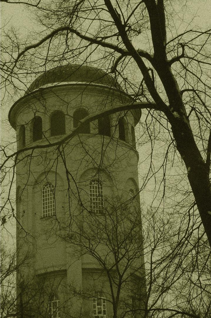Der Taurasteinturm im Wettinhain zu Burgstädt...