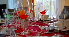 der Tisch ist gedeckt (la mesa está puesto)