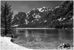 Der Toblacher See im Hochpustertal