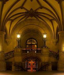 Der Treppenaufgang zum Bürgerschaftsflügel