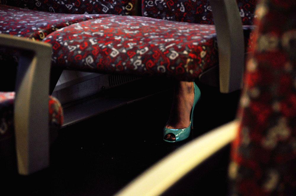 Der türkise Schuh