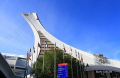 Der Turm des Olympiastadions in Montreal