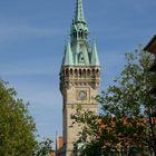 Der Turm des Rathauses der Stadt Braunschweig