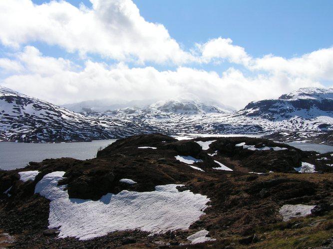 Der Übergang vom Winter zum Frühling in Südnorwegen
