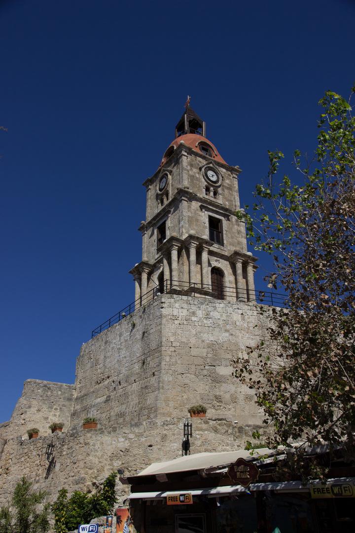 der Uhrenturm in Rhodos Altstadt