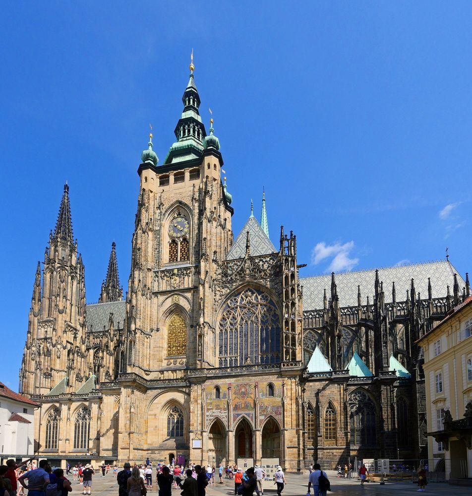 """Der """" Veits - Dom """" in Prag"""