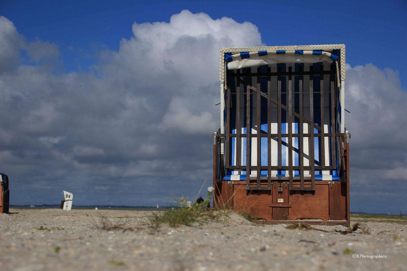 Der verlassene Strandkorb...