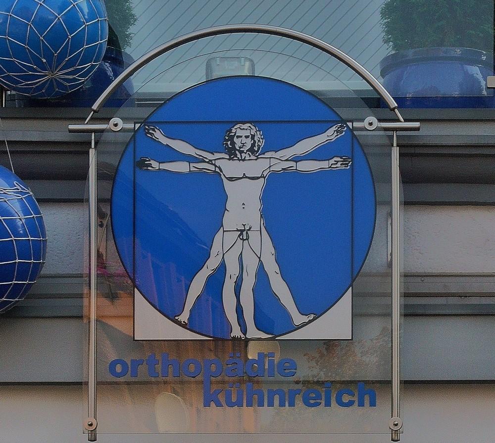 Der vitruvianische Mensch frei nach Leonardo da Vinci