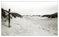 ..der Weg auf den Strand ..