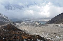 Der Weg vom Larke Pass nach Bhimtang