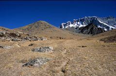 Der Weg zum Gipfel des Chukhung Ri (5546m) ist lang