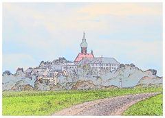 Der Weg zum Kloster Andechs