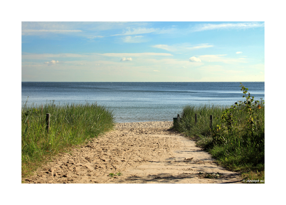 der Weg zum Meer...