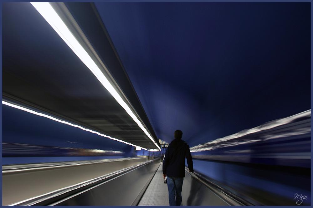 Der Weg zur U-Bahn...