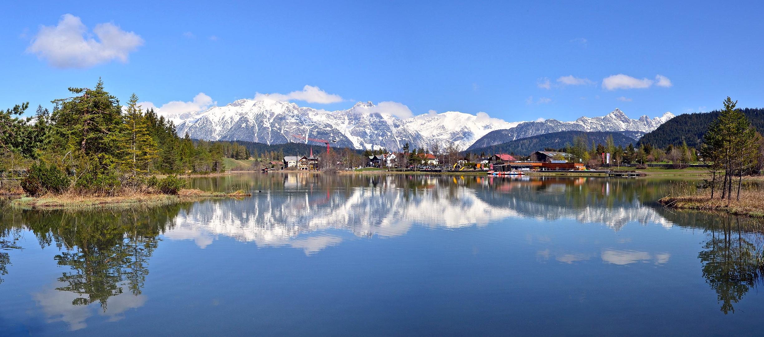 Der  Wildsee bei Seefeld in Tirol