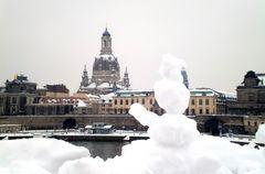 Der Winter grüßt aus Dresden