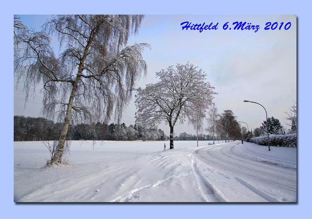 Der Winter ist wieder da.