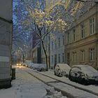 Der Winter kam zurück heut Nacht