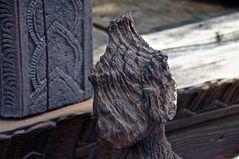 der witterung ausgesetzt, buddha, burma 2011