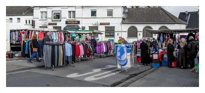 Der Wochenmarkt in Hassel