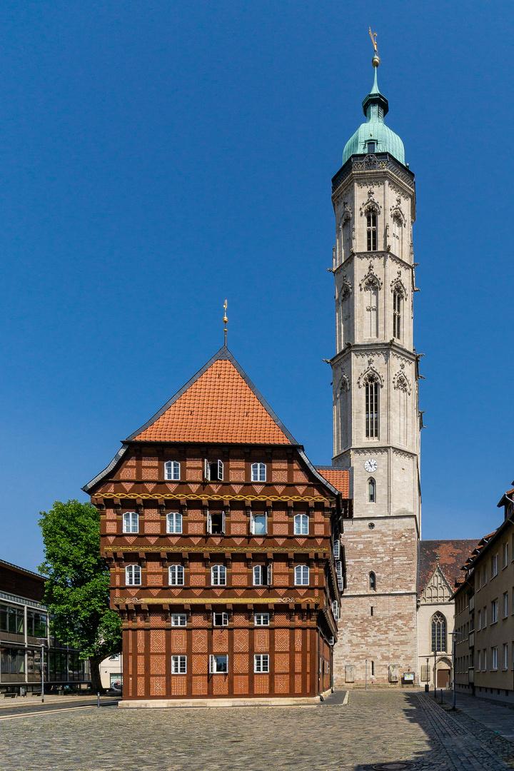 Der Wollmarkt in Braunschweig (1) Alte Waage und Andreaskirche