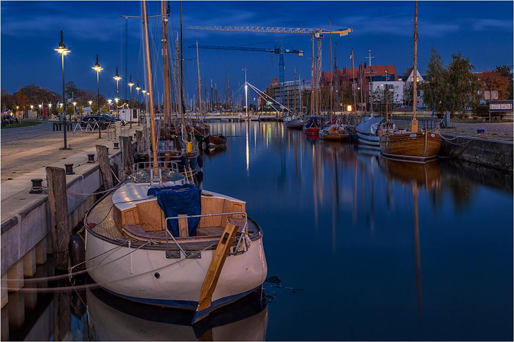 Der Yachthafen von Greifswald