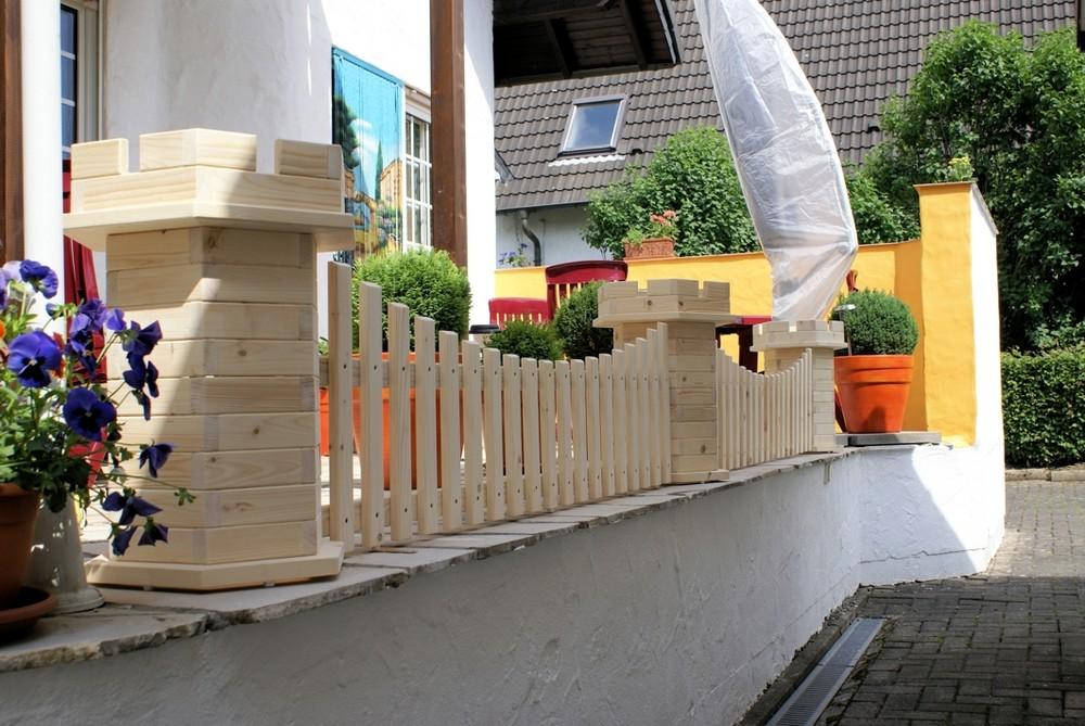 Der Zaun! Vielleicht nicht das beste Foto, dafür aber selbst gebaut
