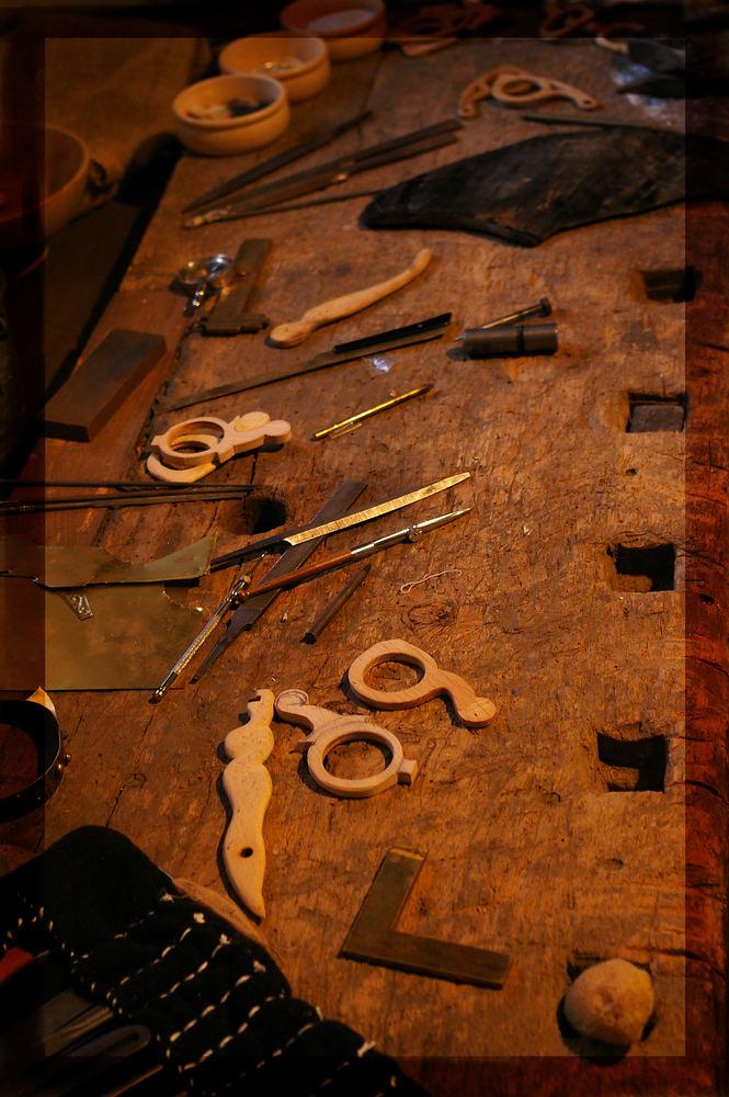Des Brillenmachers Werkzeug