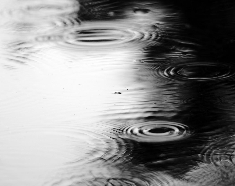 des milliers de ronds dans l'eau.....