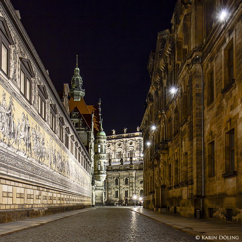 Des Nachts in Dresdens Gassen