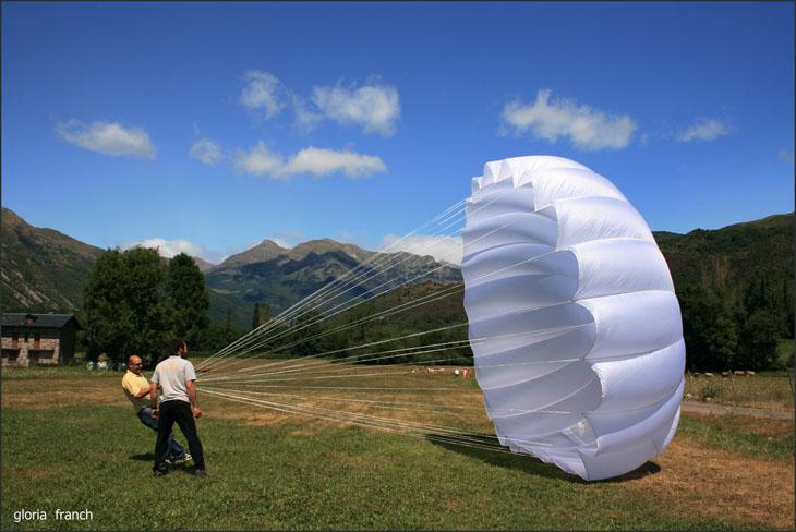 desafiando la fuerza del viento