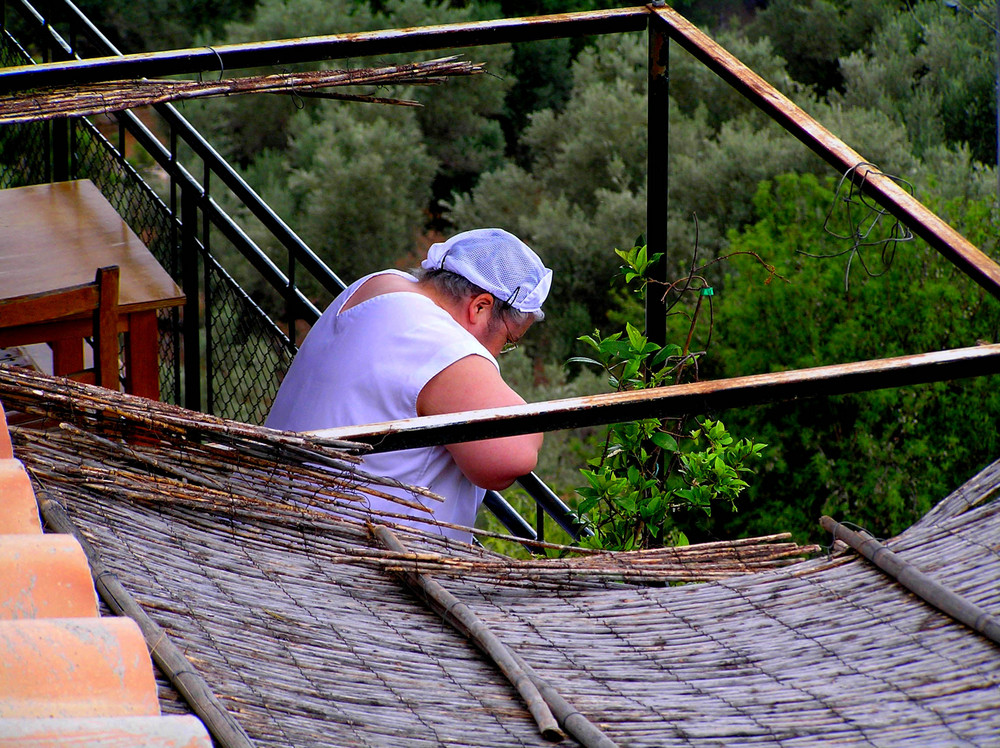 descansando en Mallorca