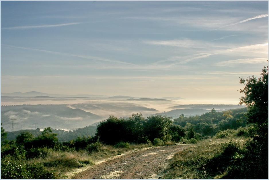 descente vers le brouillard