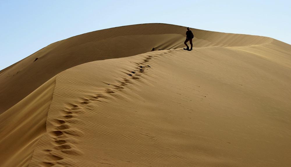 ...desert sand ...
