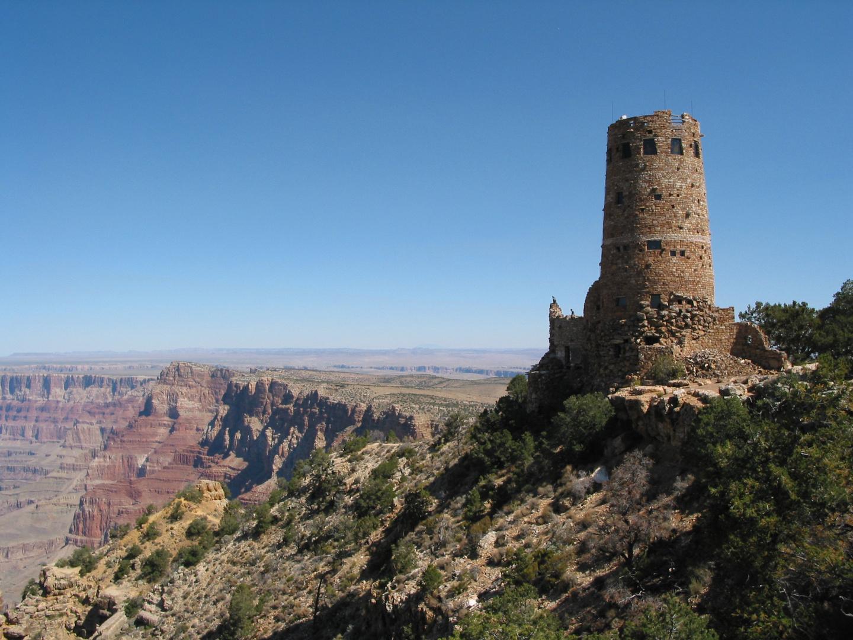 Desert View Watchtower Am Grand Canyon Foto Bild Usa World