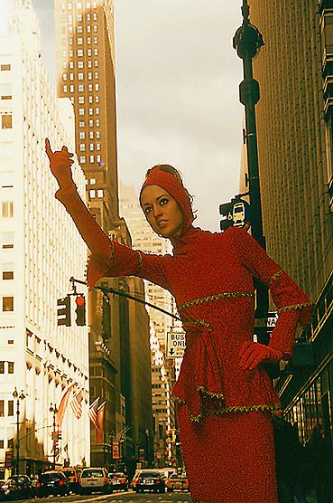 Designer trouble during the Fashion Week New York in Manhattan