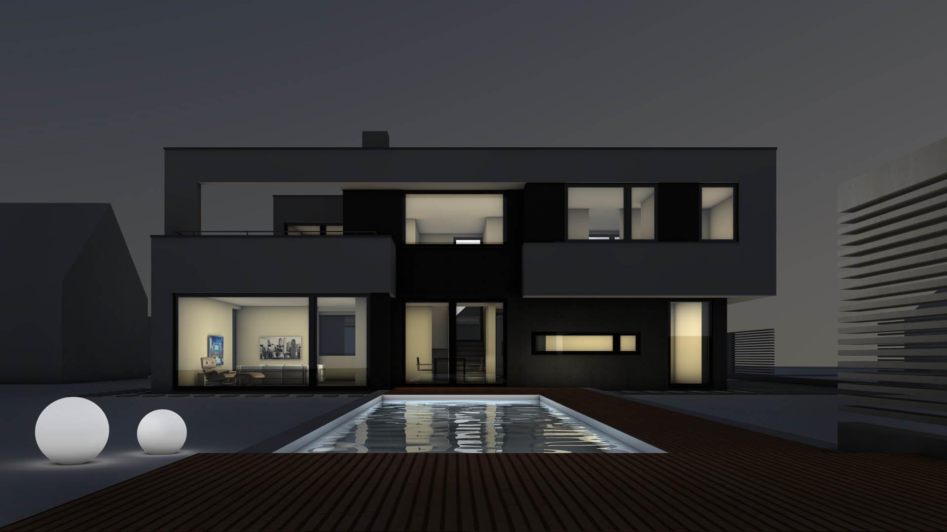designhaus einfamilienhaus traumhaus magdeburg foto bild rendering digiart bilder auf. Black Bedroom Furniture Sets. Home Design Ideas