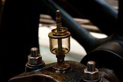 Detail alter Dampfmaschine