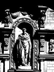 "Detail an der ""Loggia dei Mercati"" in Mailand"