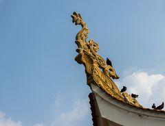 Detail an einem buddhistischen Tempel in Saigon