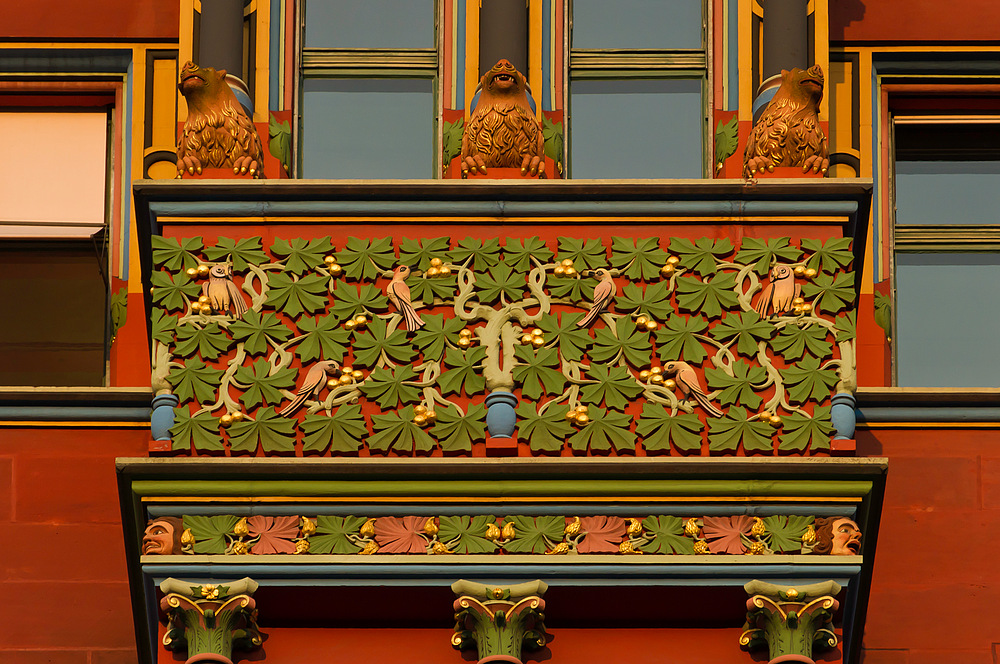 Detail-Aufnahme Basler Rathaus