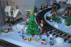 Detail aus dem Lego-Winter-Land